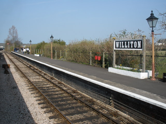 Platform, at Williton railway station