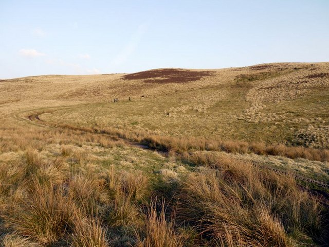 Bend in bridleway east of Old Rookland