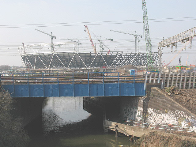 Olympic stadium under construction