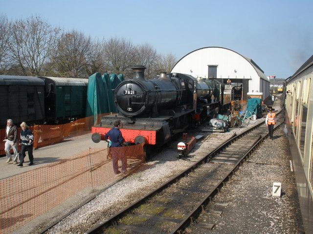 Railway repair sheds, at Williton