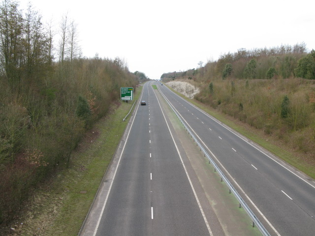View N along the A256 towards Sandwich