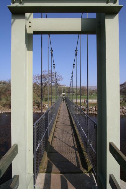User's eye view of Reeth Swing Bridge