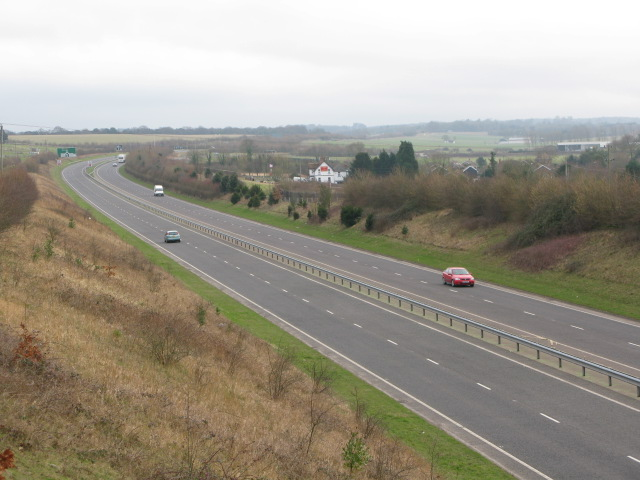 Looking S along the A256 Tilmanstone bypass