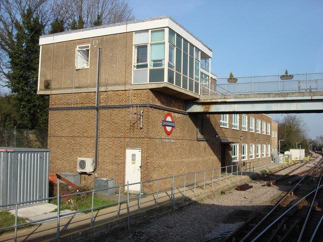 London Underground signal box at Upminster station