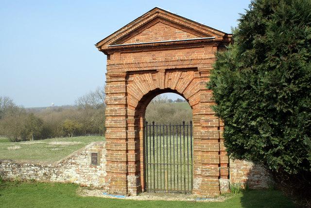 Restored gate at St Giles Church, Chesterton.
