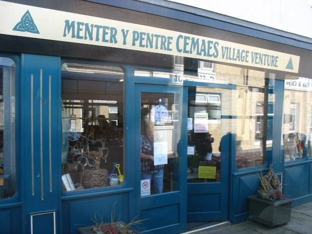 Village Venture Shop on Cemaes High Street