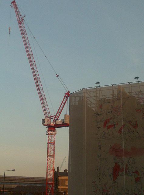 Stanley Building Wrap & Crane