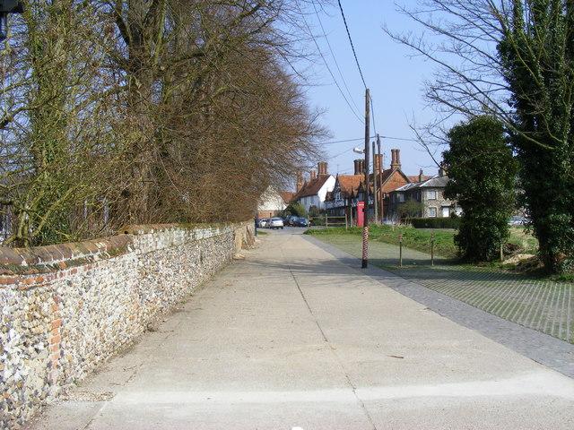 Lane looking toward The Street