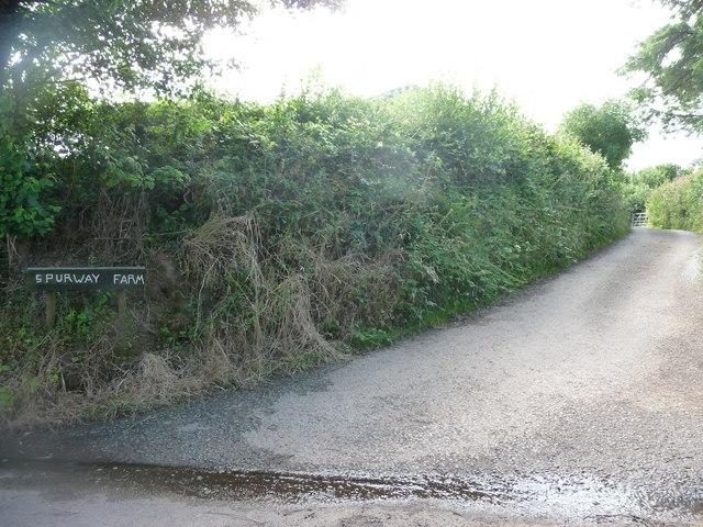 Mid Devon : Spurway Farm Entrance