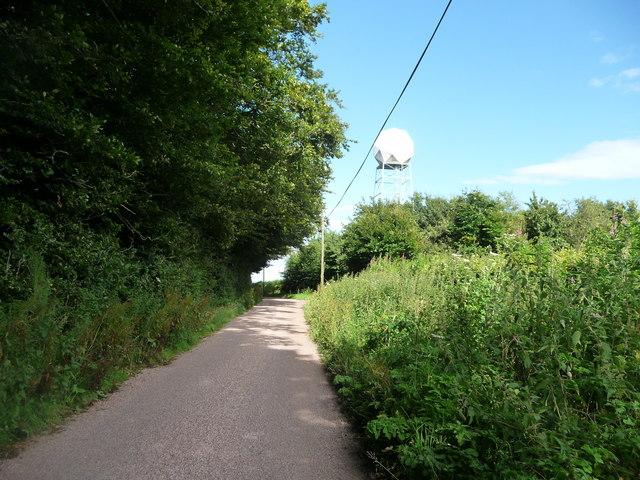 Mid Devon : Country Road & Weather Radar
