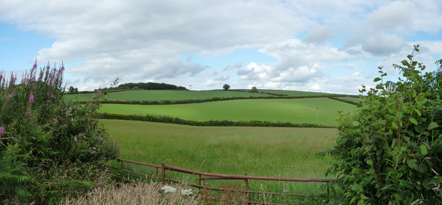 Mid Devon : Countryside at Van Post