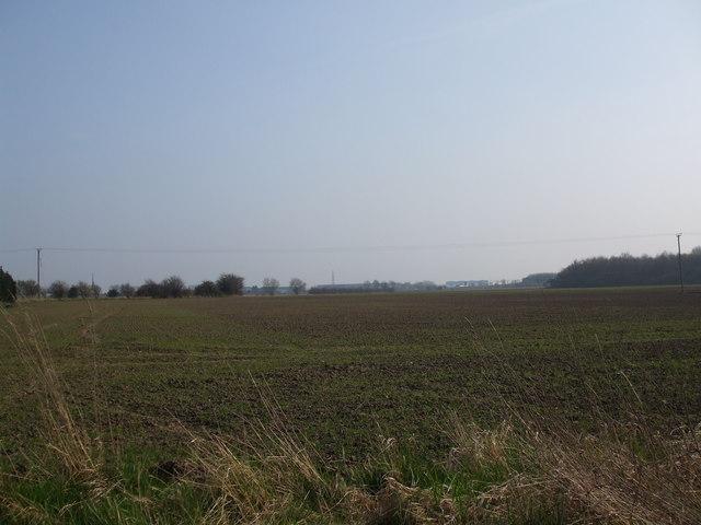 Fields towards the M62