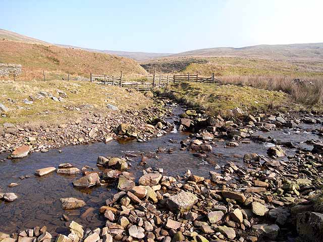 Confluence of the Stockdale Beck and Croglin Water