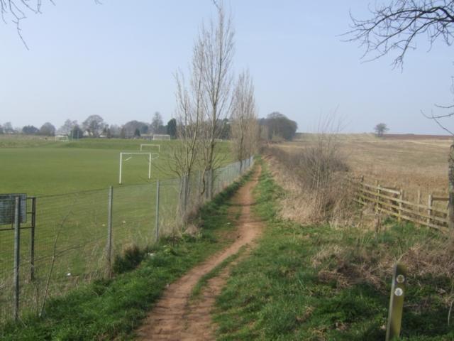 School playing fields beside the Monarch's Way