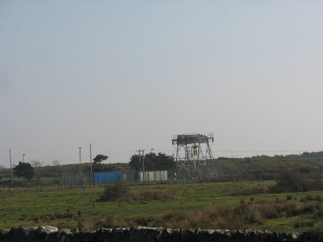 Railway siding gantry at Valley