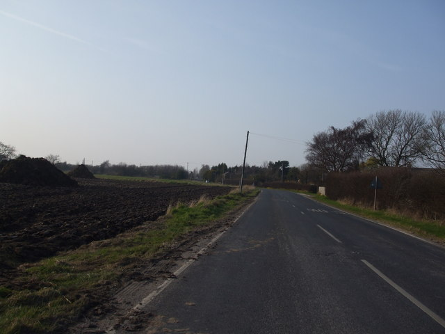 The B1228 towards Highfield