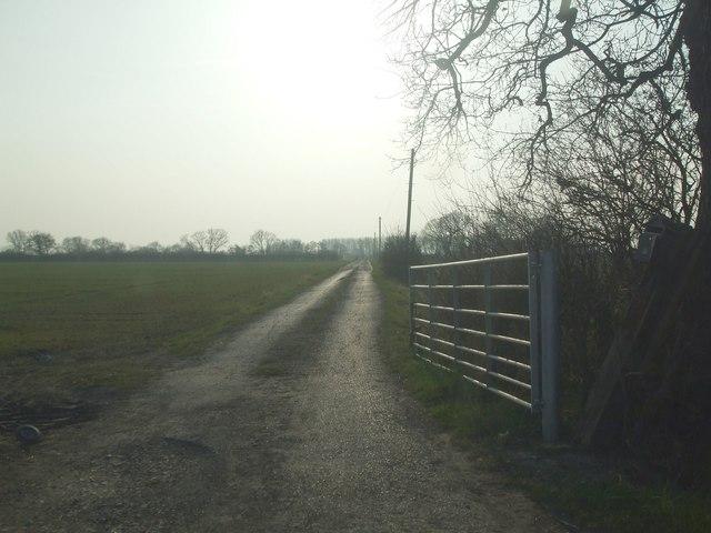 Track to Aughton Grange