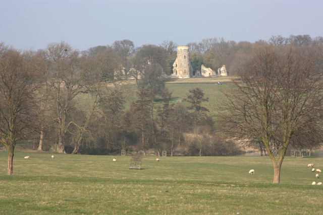 Parkland and folly at Wimpole