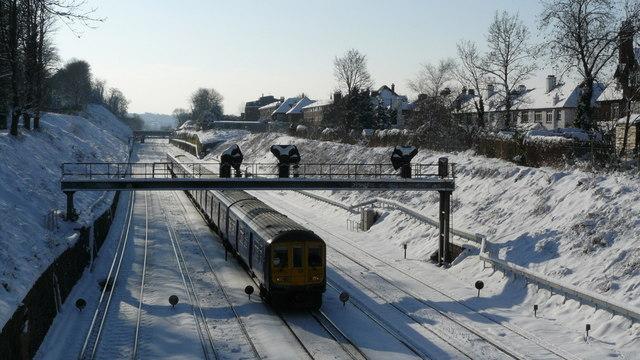 Train Approaching East Croydon Station