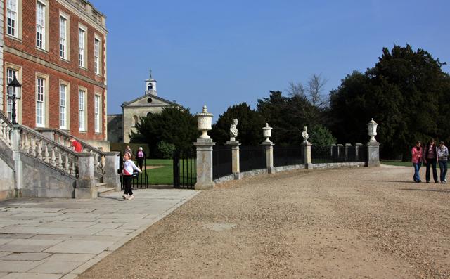 Outside Wimpole Hall