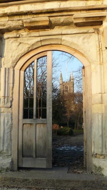 Gateway to Churchyard of Croydon Parish Church