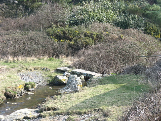 The Pont Cestyll clapper bridge