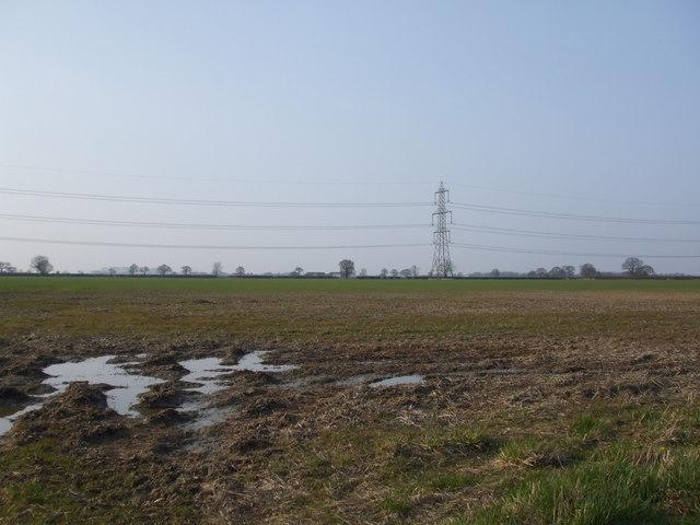 Fields towards Intake Farm