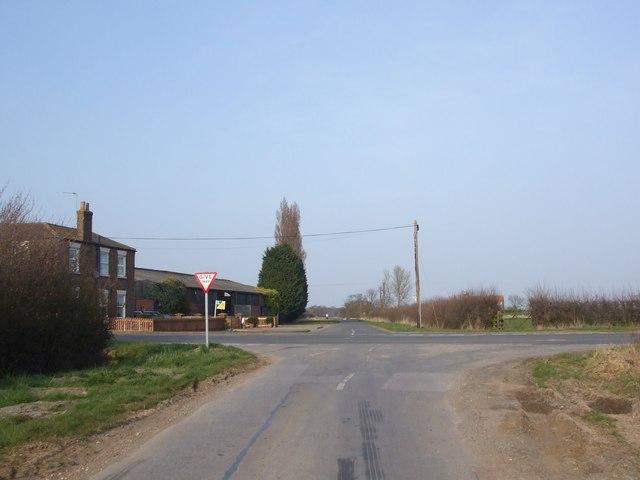 Crossroads near Newsholme Farm
