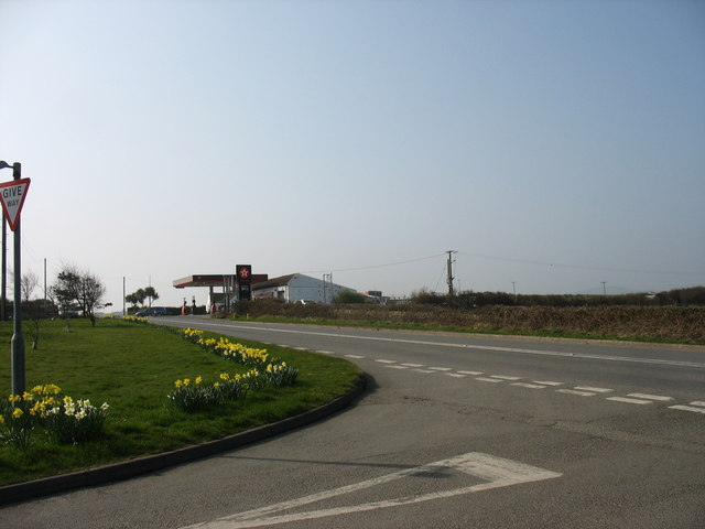 The Tregele Service Station and the Tregele by-pass
