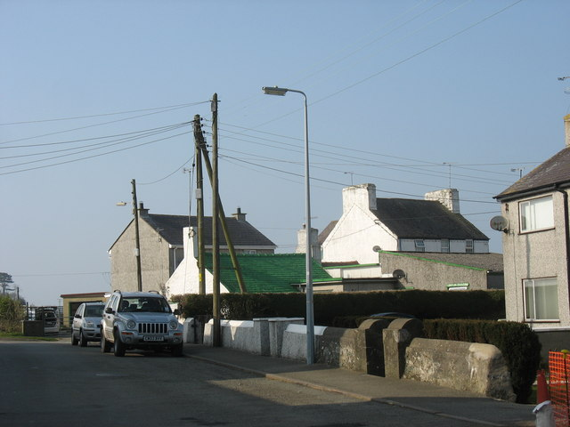 The Douglas Inn and the house with the green painted slate roof