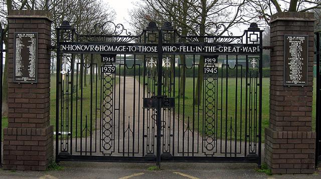 War Memorial, St Georges, Telford