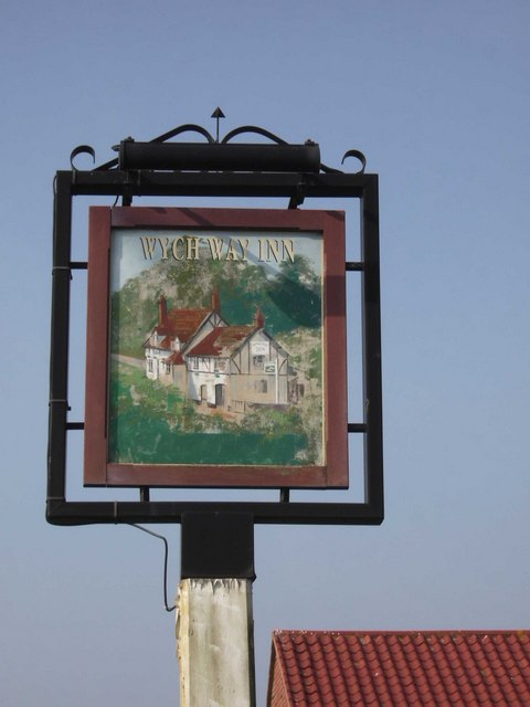Pub sign of the Wych Way Inn