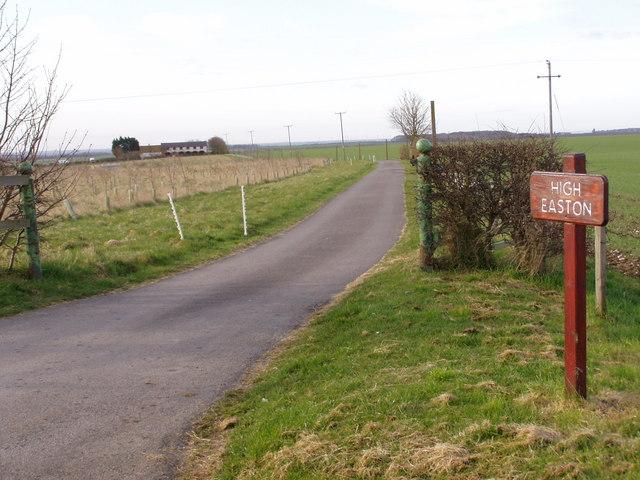 Track to High Easton Farm