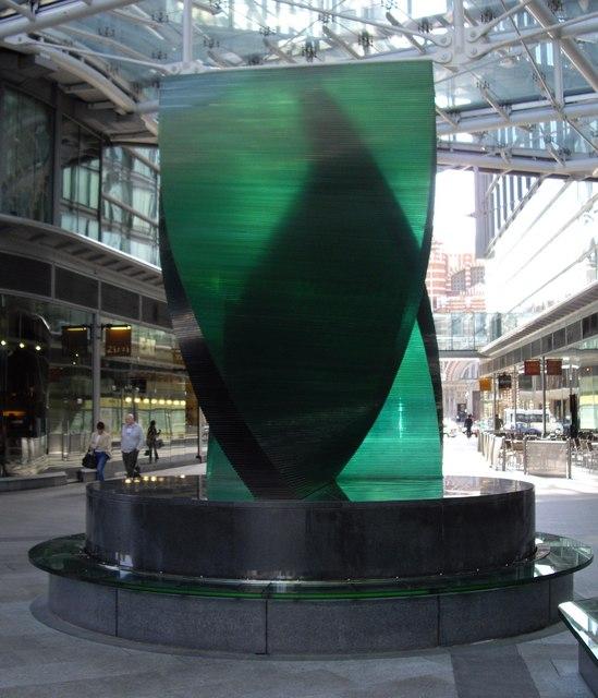 Glass Sculpture Cardinal Place