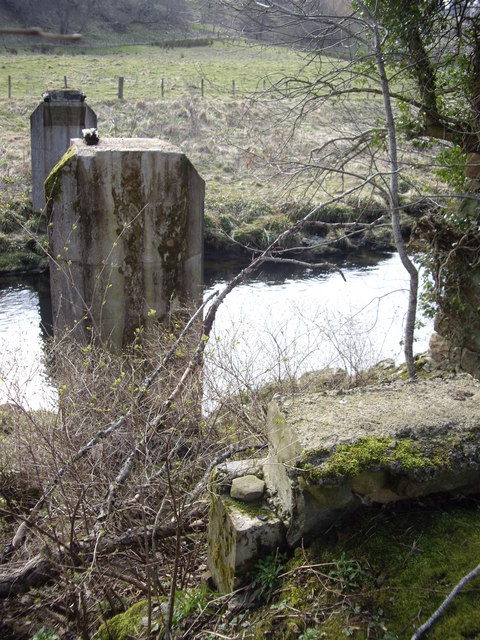 Remains of footbridge over the Deveron