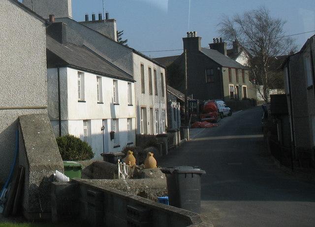 The main street in the village of Rhydwyn