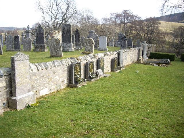 Wall inside Walla Kirkyard