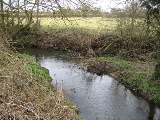Bull Brook at its confluence with The Cut