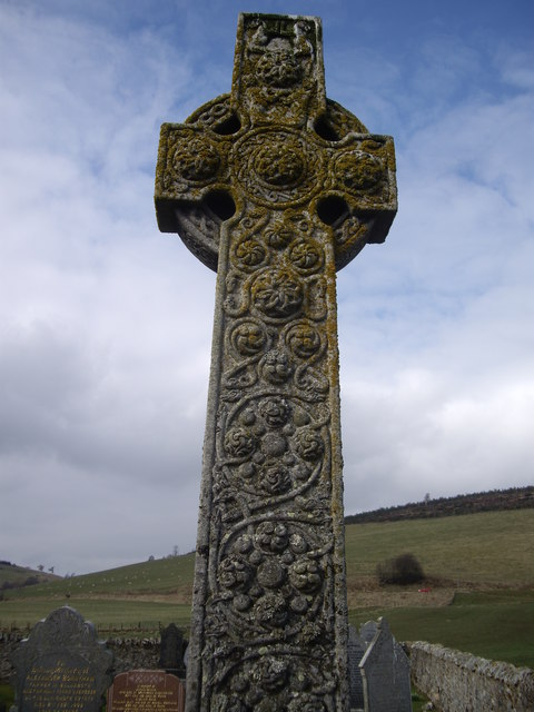 Celtic Cross in Walla Kirkyard