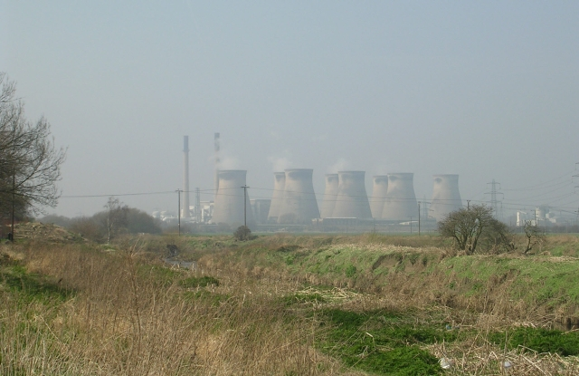 View from Aire Street of Ferrybridge Power Station