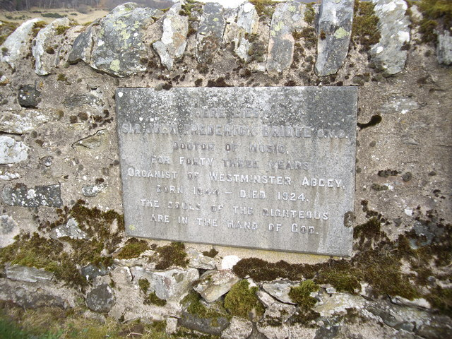 Memorial plaque to Sir Frederick Bridge