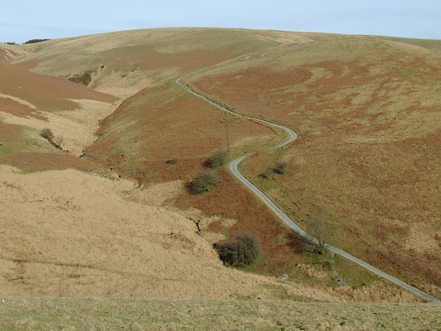 Drovers' road towards Soar-y-Mynydd, Ceredigion