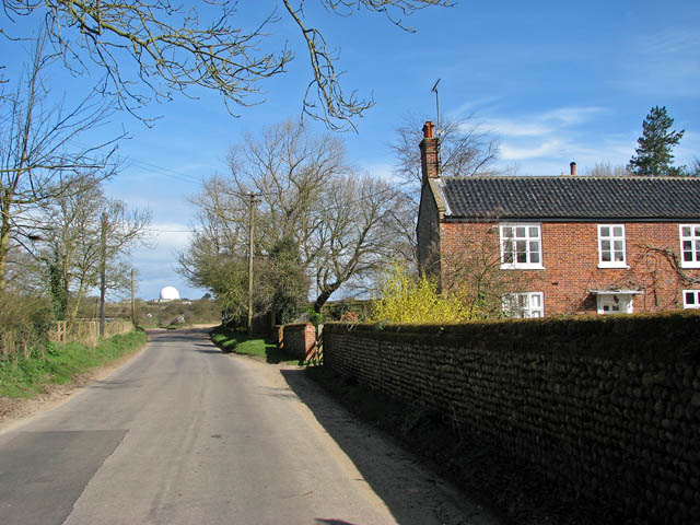 Exiting the village of Gimingham