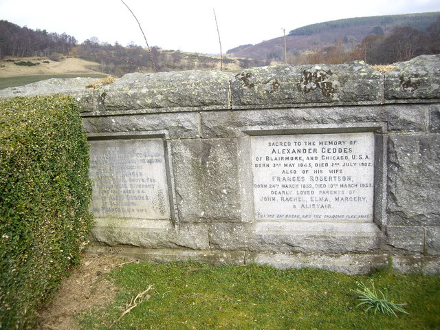 Memorial plaques to the Geddes family of Blairmore