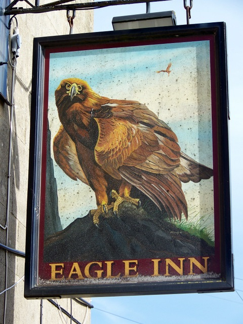 Sign for the Eagle Inn