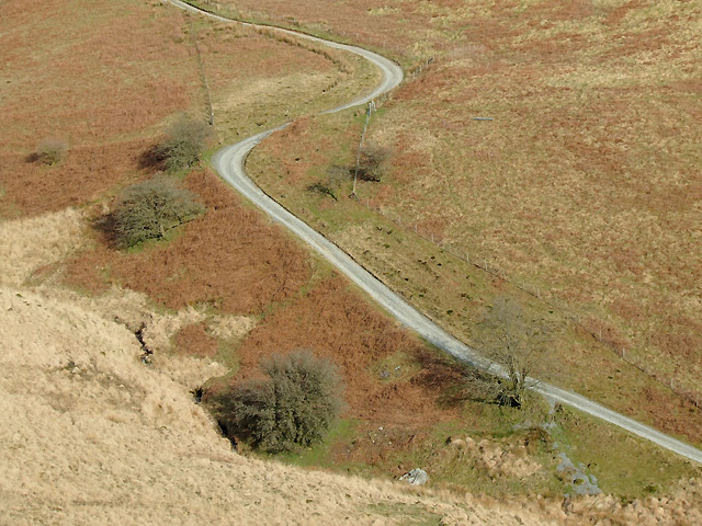 Drovers' road climbing from Cwm Doethie, Ceredigion