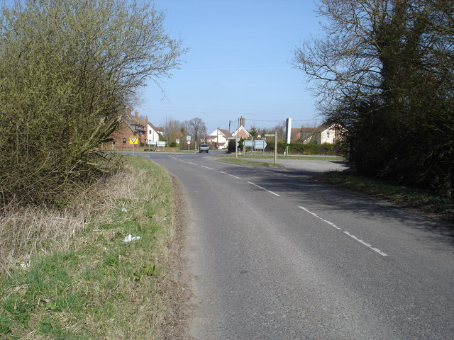Crossroads south of Ashbocking