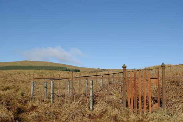 Fenced enclosure close to Pennel Burn