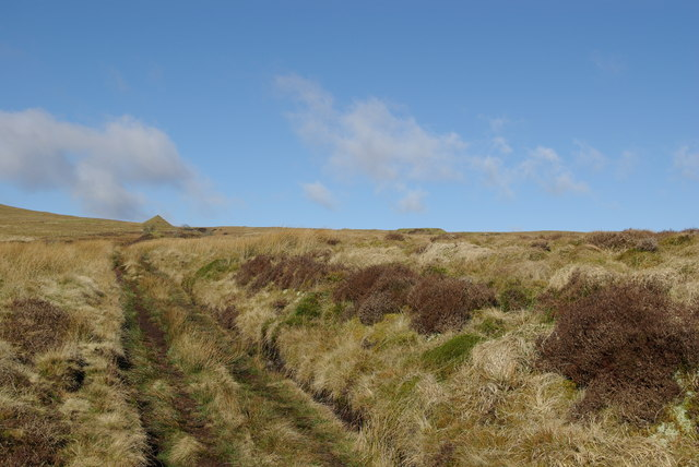Track leading towards Auchenlongford hematite mine