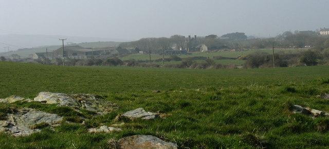 Cefnan Farm from the Cestyll path